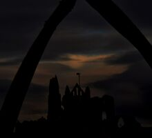 Whitby Abbey through the Whale Bones by skid