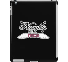 Naughty but Nice - Angel and Devil iPad Case/Skin
