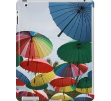 Street Decorated With Colored Umbrellas iPad Case/Skin
