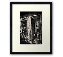 The poor mans throne Framed Print