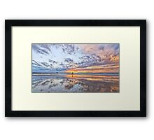 Riding the sunset Framed Print