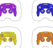 Pixel Gamecube Controllers - Rainbow Set Sticker
