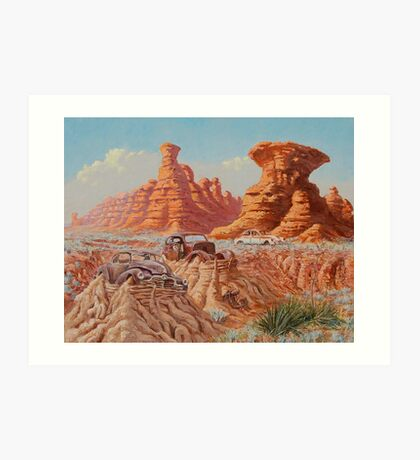 Fossil Land Art Print