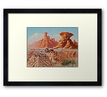 Fossil Land Framed Print