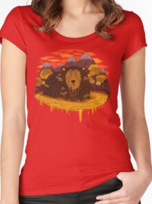 HONEY HIBERNATION Women's Fitted Scoop T-Shirt