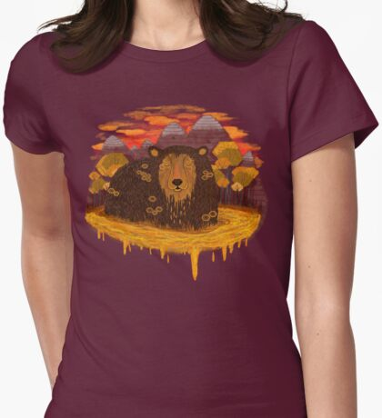 HONEY HIBERNATION Womens Fitted T-Shirt