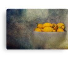 Lemon in a jar Canvas Print