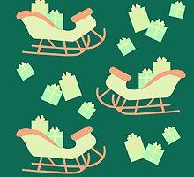 Christmas Sleigh & Presents #5 by simplepaperplan