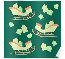 Christmas Sleigh & Presents #5 Poster