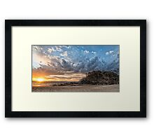 Sunset clouds at The Pass Framed Print