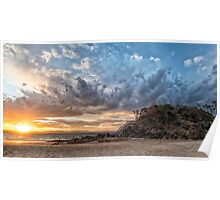 Sunset clouds at The Pass Poster