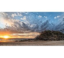 Sunset clouds at The Pass Photographic Print