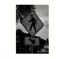 Pedestrian Crossing Art Print