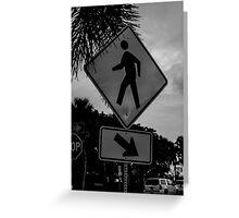 Pedestrian Crossing Greeting Card
