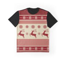Reindeers and Snowflakes Graphic T-Shirt