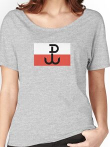 Flag of the Polish Underground State, 1939-1945 Women's Relaxed Fit T-Shirt