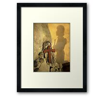 Pilgrim Shadow & Cross Framed Print