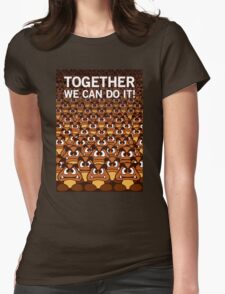 Together we can do it Womens Fitted T-Shirt