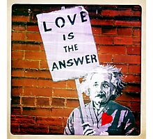 Love Is The Answer Photographic Print