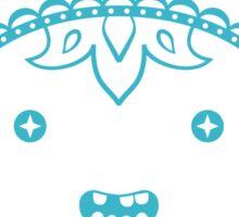 Finn Sugar Skull - blue Sticker