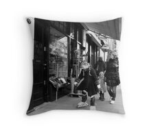 Pipi on roller scates Throw Pillow