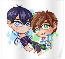 Chibi Time! Haru & Makoto Poster