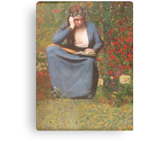 Her Favorite Book Canvas Print