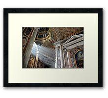 Vatican Rome.....Sun Rays Framed Print