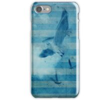 seagull in cyan 2 iPhone Case/Skin