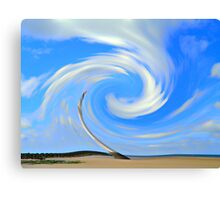 Swirling Clouds at Perch Rock Canvas Print