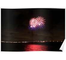 Lights over Whitley Bay Poster