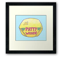 Patty Whack! Burger Shack Framed Print
