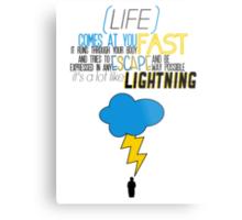 A Lot Like Lightning Metal Print