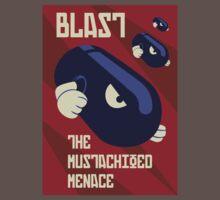 Blast the Mustachioed Menace Kids Clothes