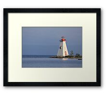 Lighthouse - Cape Breton NS, Canada Framed Print