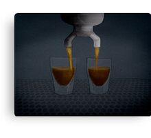Espresso Coffee Shots Pouring Canvas Print