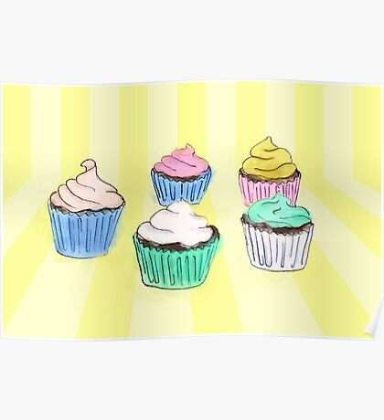 Colourful cupcakes you want to eat Poster