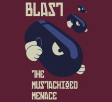 Blast the Mustachioed Menace - no background by FlamingDerps