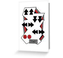 Konami Code 80's Nintendo Style Greeting Card