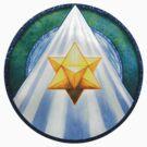 Mandala Tee, Hoodie, Sticker : Merkaba  by danita clark