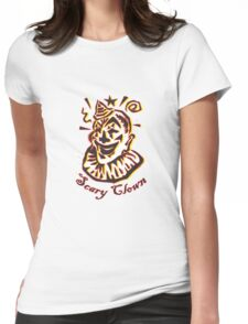 Scary Clown Womens Fitted T-Shirt