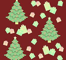 Christmas Tree with Presents #3 by simplepaperplan