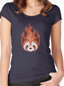 Legend of Korra: Fire Ferrets Pro Bending Emblem - no text Women's Fitted Scoop T-Shirt