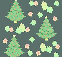 Christmas Tree with Presents #4 by simplepaperplan