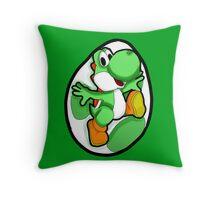 Very Green, Much Yoshi, Wow Throw Pillow