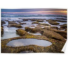 13th Beach ~ Rock Pool Poster
