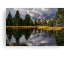 Fall Teton Reflection Canvas Print