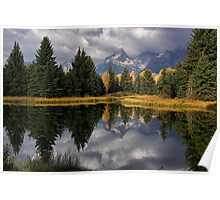 Fall Teton Reflection Poster