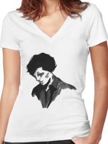 Sherlock (Larger) Women's Fitted V-Neck T-Shirt