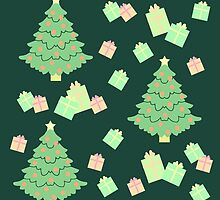 Christmas Tree with Presents #5 by simplepaperplan